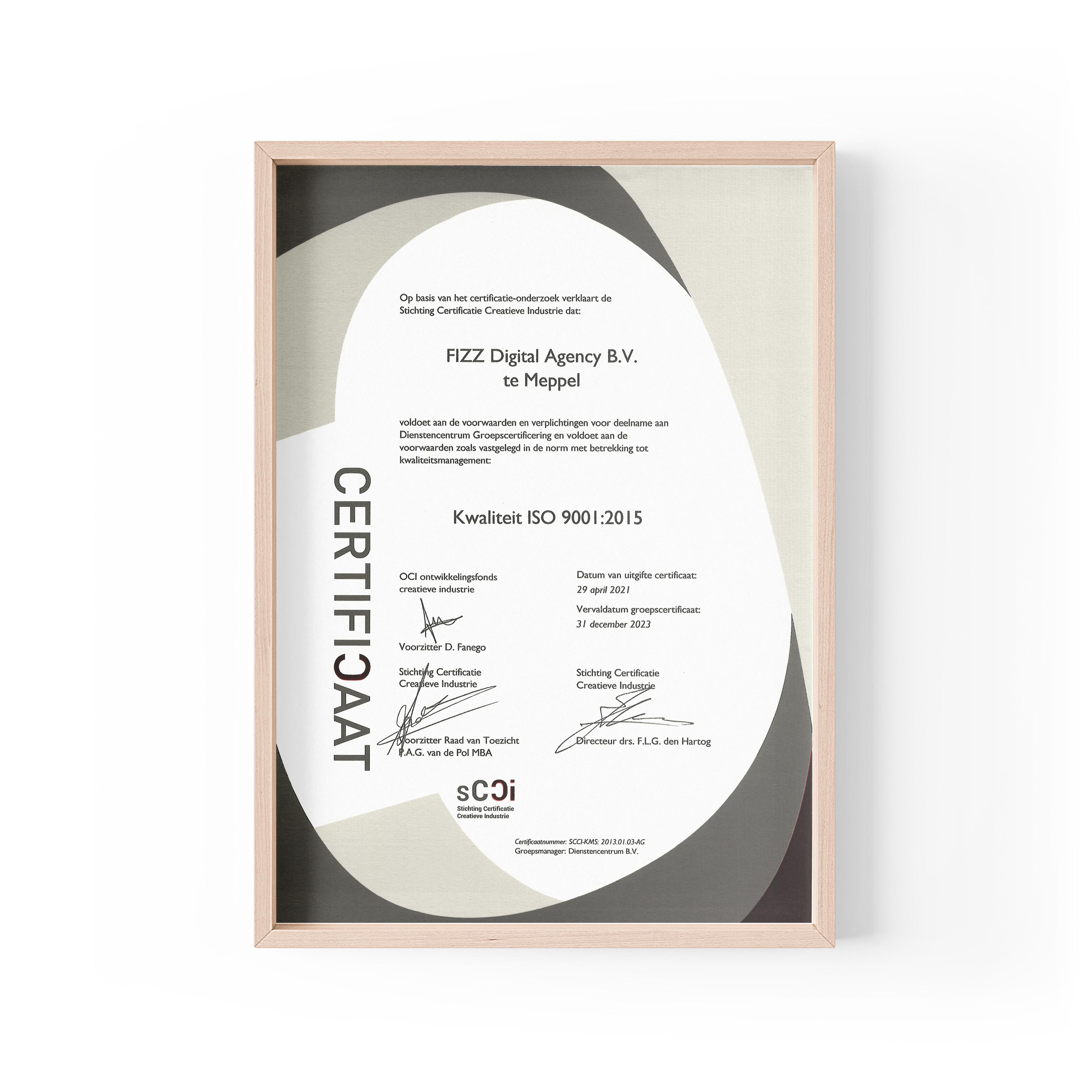 FIZZ - Certificaat