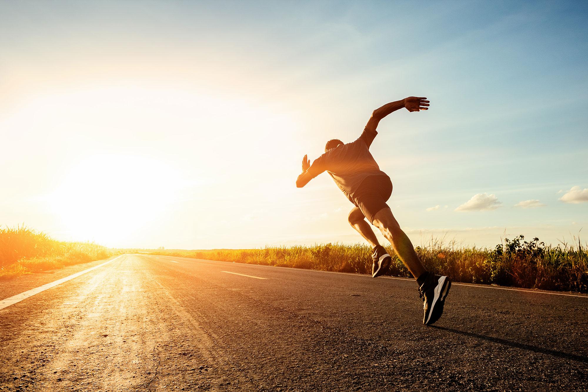 Sprinten naar succes