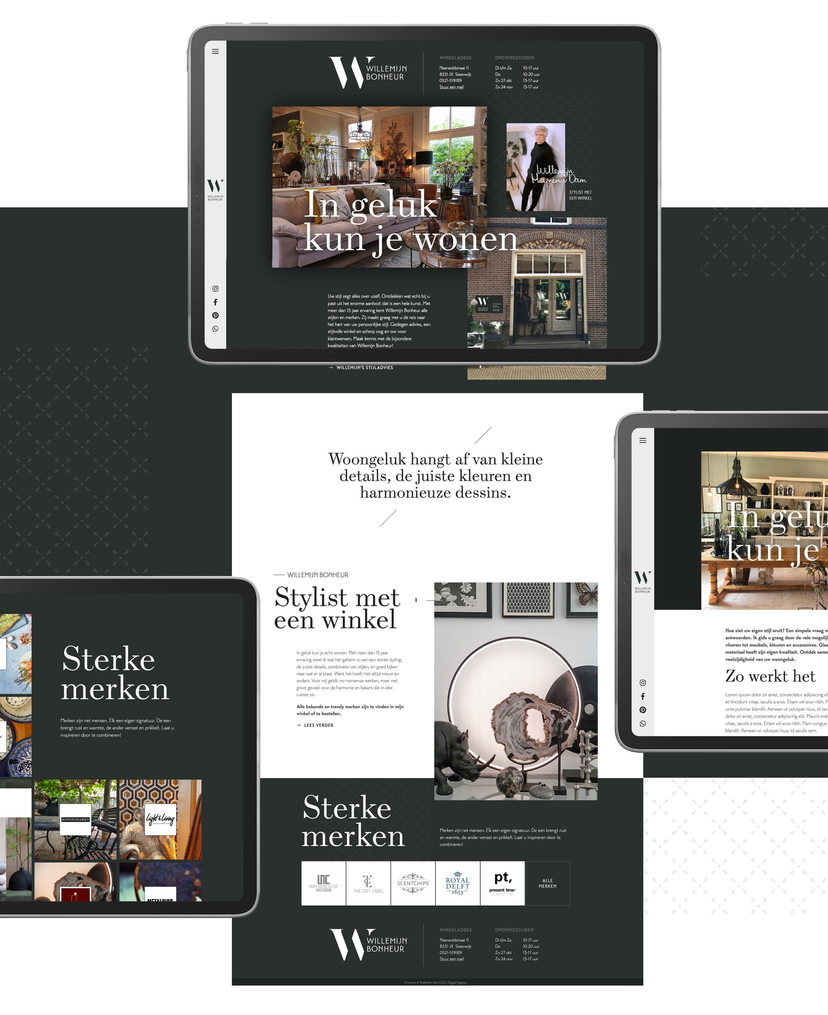 Bonheur - Website