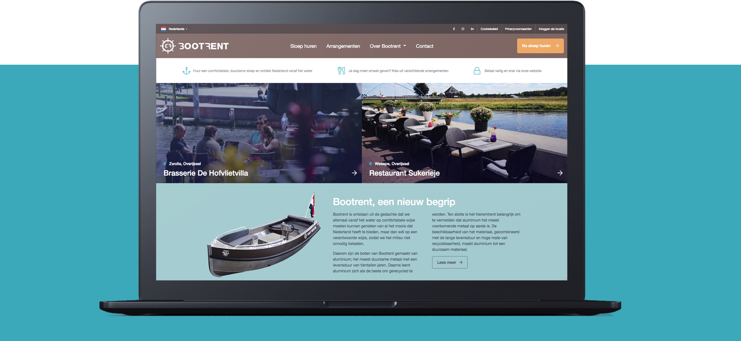 Bootrent - Homepage