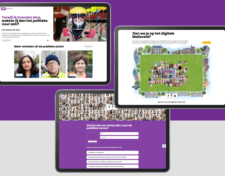 CNV - Publieke campagne - Website