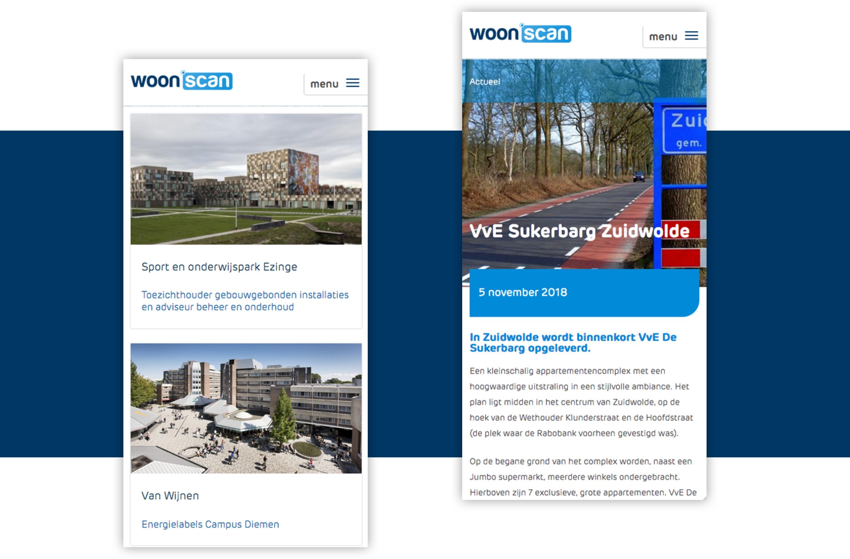 Woonscan - iPhone screens