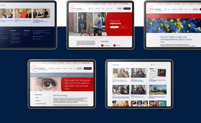 Zorggroep Oude en Nieuwe Land - Website